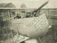 c. 1910's World War I French Fighter Pilot Signed Photograph EARLY WAR AVIATION