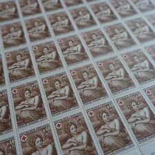 FEUILLE SHEET TIMBRE CROIX ROUGE RED CROSS N°1619 x50 1969 NEUF ** LUXE MNH