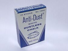 VINTAGE 1964-1973 ANTI-DUST WHITE DUSTLESS CHALK - BINNEY & SMITH #1402 USA Made