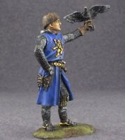 1/32 Figure Toy Metal Soldiers Infantry Painted Knight with Falcon 54mm