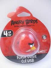 """EMTEC - 4 GB USB 2.0 FLASH DRIVE - ANGRY BIRDS """"RED BIRD"""" - NEW UNOPENED"""