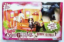 Bratz Play Set Cowgirlz Horse Stable With Black Pony Doll New Sealed in Box