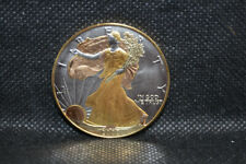 2000 Tri-Color American Eagle Silver Dollar $1 Coin - 1 oz with 24k Gold Plate