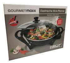 Gourmetmaxx elektrische Wokpfanne 1500w Glasdeckel Temperaturregler