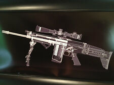 "SCAR 17 Print - 10"" x 20"" Unique Gun Art  Military rifle Xrayguns.com"