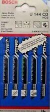 """Bosch U144CD 3 5/8"""" 8tpi U-Shank Jig Saw Blades 5 Blades Aggressive Wood"""