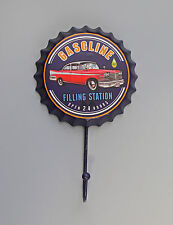 Metall Schlüssel-Haken Kronenkorken Gasoline Reklame Vintage Shabby Chic 9977504