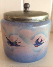 Vintage Palissy England bluebird ceramic sugar bowl