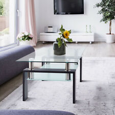 Modern Glass Coffee Table For Living Room Center Tables Furniture Rectangle