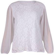 Camisas y tops de mujer blusa Color principal Blanco chifón