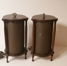 VTG Electrohome Mid Century Modern Wood Cylinder Speakers made in Canada