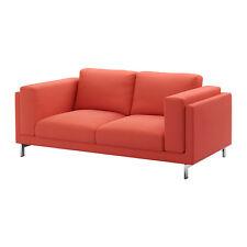 Ikea Nockeby Replacement 2 Seat Loveseat Sofa Slip Cover Set Risane Orange