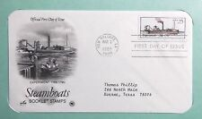 FDC Stamp Steamboats Booklet Experiment 1788-1790 Mar 3 1989 #32