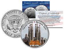 SAGRADA FAMILIA * Famous Churches * JFK Half Dollar U.S. Coin Barcelona Spain