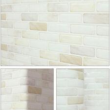Home Décor Beauty Safe Foil On Fire Kitchen 3D Tile Wallpaper Sticker White 3pcs