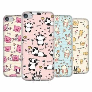 HEAD CASE DESIGNS CUTESY DOODLES GEL CASE & WALLPAPER FOR APPLE iPOD TOUCH MP3