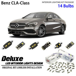 14 Bulbs Deluxe LED Interior Dome Light Kit for C117 2014-2018 Benz CLA-Class