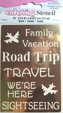 Brass Stencil Family Vacatioon Road Trip Travel Airplane, NEW