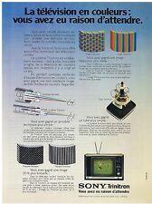 PUBLICITE ADVERTISING 044 1973 SONY télévision Trinitron