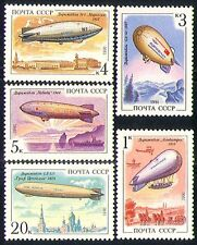 Russia 1991 Aviation/Zeppelin/Airships/Balloons/Aircraft/Flight 5v set (b3624)