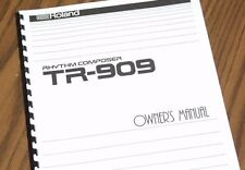 ROLAND Rhythm Composer TR-909 Drum Machine OWNERS MANUAL