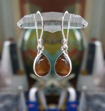 315b Tiger's Eye Solid 925 Sterling Silver Teardrop Gemstone Earrings rrp$39.95