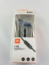 JBL T110 In-Ear 1 Button Headphones Earphones - Black