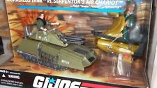 SHARP GI JOE 25th Anniv SERPENTOR AIR CHARIOT ARMADILLO TANK Steeler Driver MISB