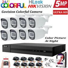 HIKVISION HILOOK 5MP CCTV SYSTEM DVR UHD 24/7 HOURS COLORFUL CAMERA KIT UK