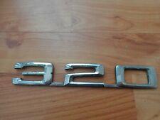 VINTAGE BMW 320 PLASTIC CAR BODY BONNET BOOT MASCOT BADGE SCRIPT
