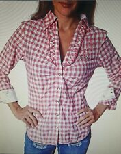 Trachtenhemd für Mädchen rot/weiß Oktoberfest auswahl 100% Baumwolle  XXXL Größe
