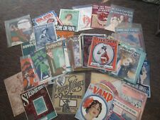 100+ Piece Lot of VINTAGE SHEET MUSIC Song Booklets FREE SHIPPING!