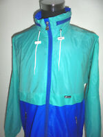 vintage K-WAY Regenjacke Nylon glanz 90er Jahre Jacke regen oldschool K Way XL