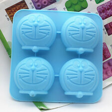 Doraemon Cake Mold Floral Flexible Silicone Soap Mould For Candy Chocolate