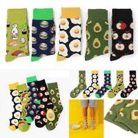 Avocado Burger Funky Food Series Couple Happy Socks Men&Women Creative Socks AU