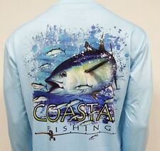 Long Sleeve QuickDry Performance Fishing Shirt - Tuna Design | Coastal Fishing