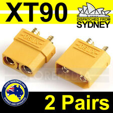2 Pairs XT90 RC Nylon XT-90 Male Female Bullet Connector Plug for Lipo Battery