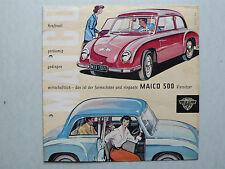 Prospekt Maico 500 Viersitzer, 10.1956, 8 Seiten, folder, deutsch, sehr selten