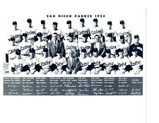 1954 SAN DIEGO PADRES PCL TEAM 8X10 PHOTO  BASEBALL CALIFORNIA USA