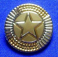 Concho Texas Stern Star Goldrand 4 cm mit Schraube Lone Star Dallas Austin