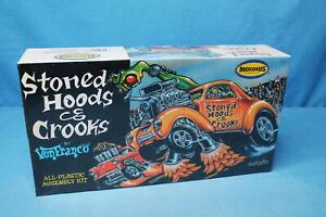 Rare! Moebius Models Stoned Hoods & Crooks Willys Gasser Model Car Kit 1209 NOSS