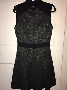 Cue Metallic Lace Dress 10