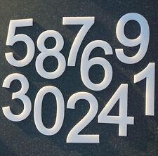 XL Hausnummer Ziffer Nummer Kunststoff Acryl massiv  weiß -  20 cm - alle Zahlen