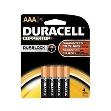 4 Pack - Duracell Coppertop AAA Alkaline Batteries 1.5 Volt 4 Each