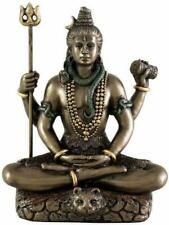 New 3.4-inch Cold Cast Bronze Lord Shiv Shiva Hindu God Idol Statue Figurine