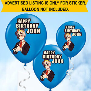 Personalised Birthday Name Ranboo Crown Youtuber Balloon Stickers