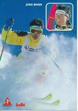 Jürg Biner ski freestyle autografiada tarjeta firmada 374444