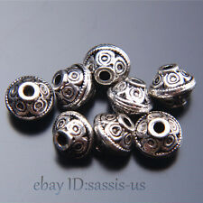 100pcs 7mm Charms Spacer Beads Bail Tibet Silver DIY Jewelry Making Top A7512