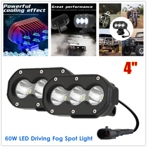 1Pair Motorcycle Front Bumper Car Front Grille Mount LED Driving Light Spotlight