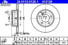 Bremsscheibe (2 Stück) - ATE 24.0112-0126.1